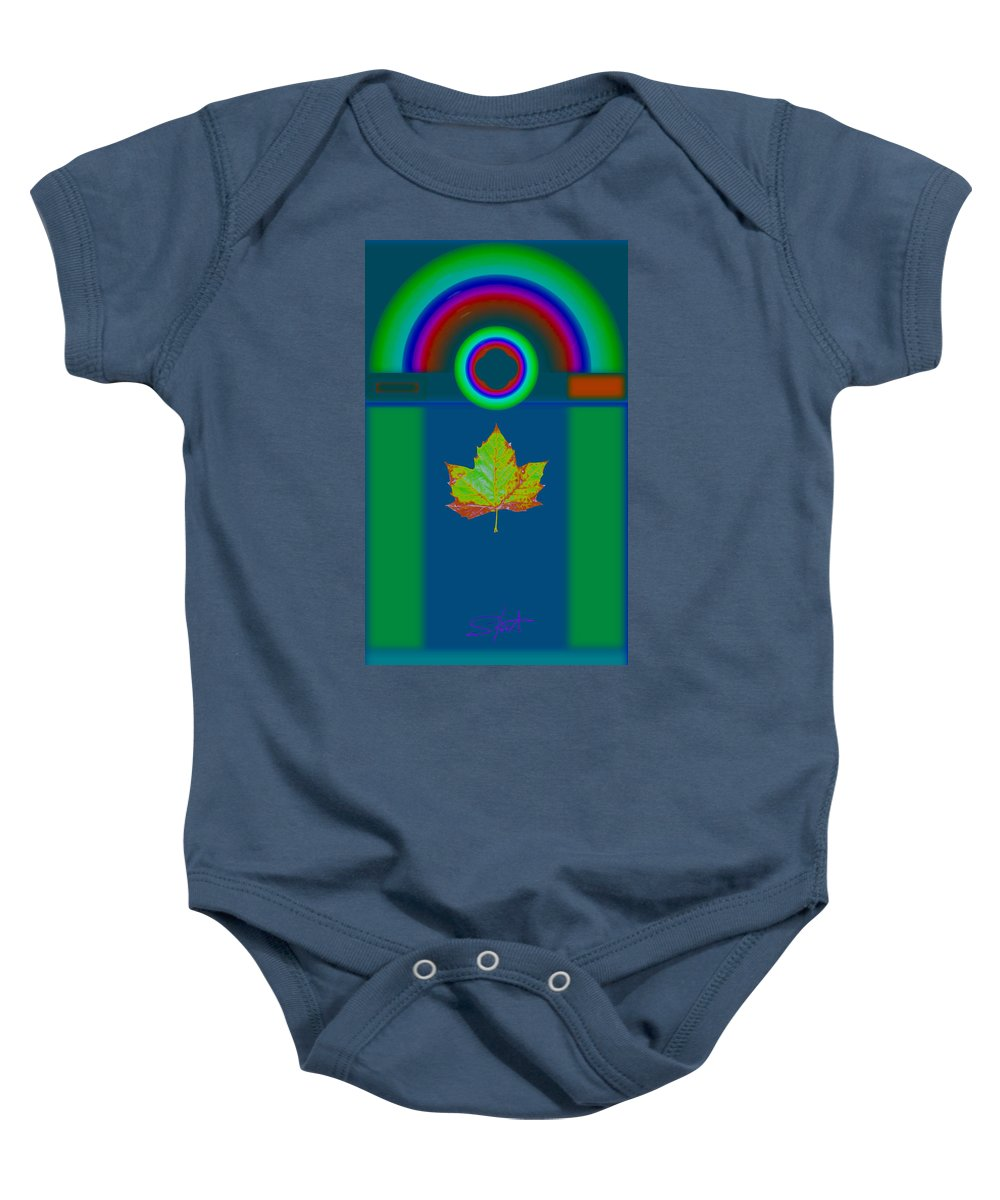 Classical Baby Onesie featuring the painting Fall by Charles Stuart