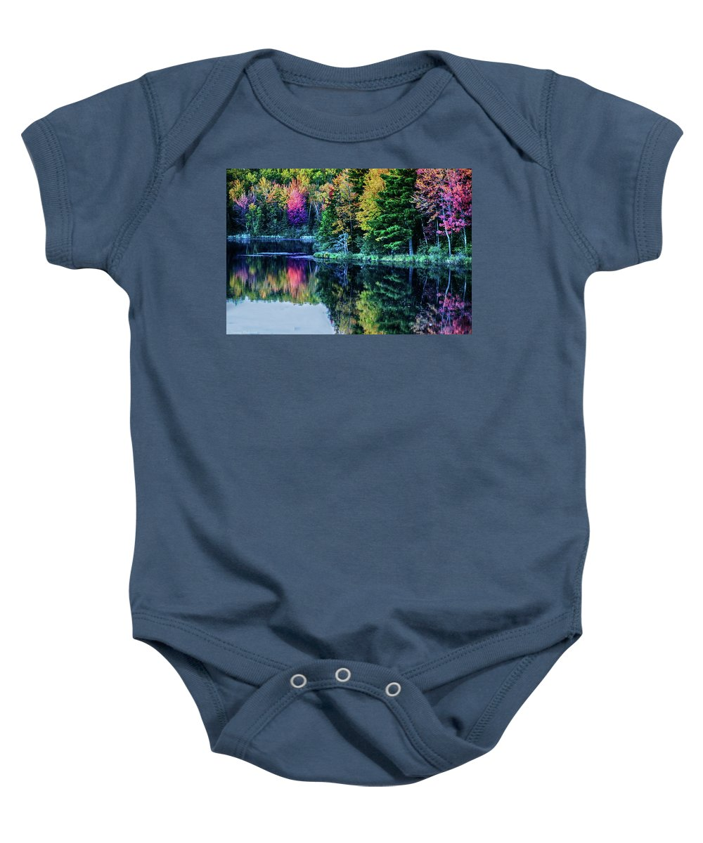 Fall Baby Onesie featuring the photograph Fall Color Explosion by Tommy Anderson