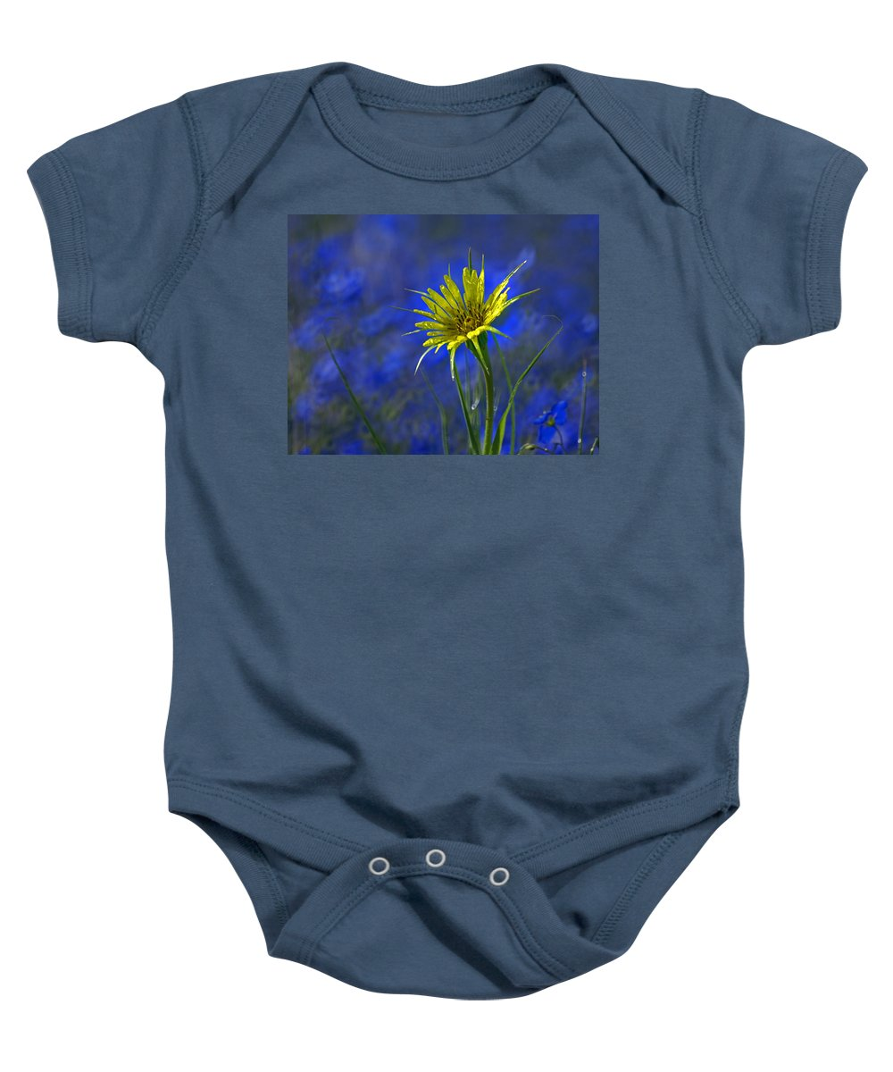 Flower Baby Onesie featuring the photograph Flower And Flax by Heather Coen