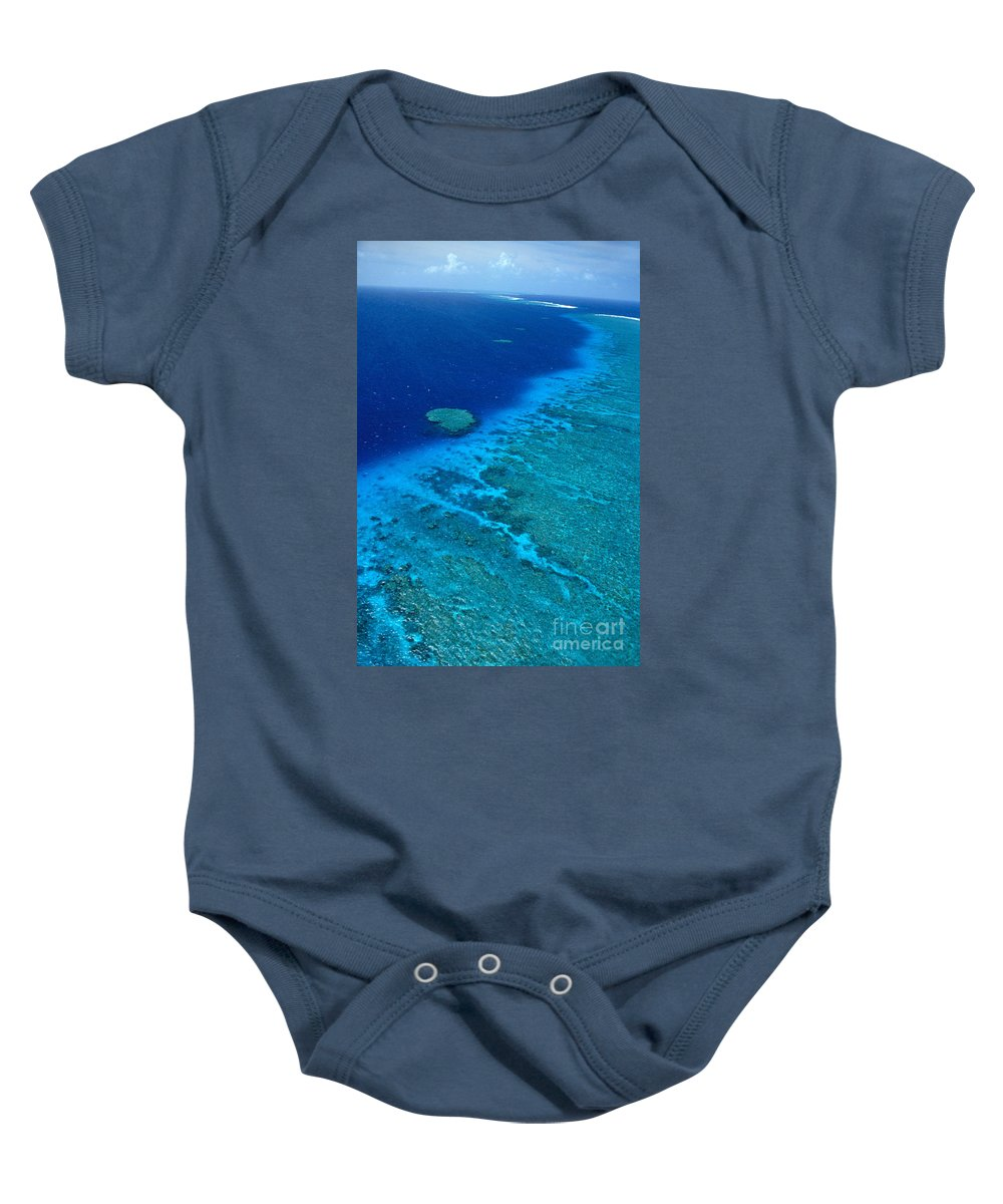 Aerial Baby Onesie featuring the photograph Great Barrier Reef by Bill Schildge - Printscapes