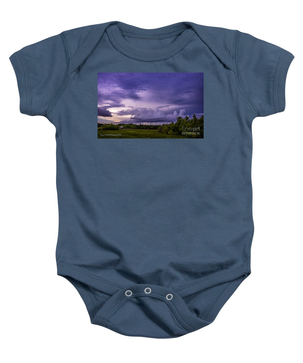 Boynton Beach Baby Onesie featuring the photograph Green Cay Storm 7 by Nancy L Marshall