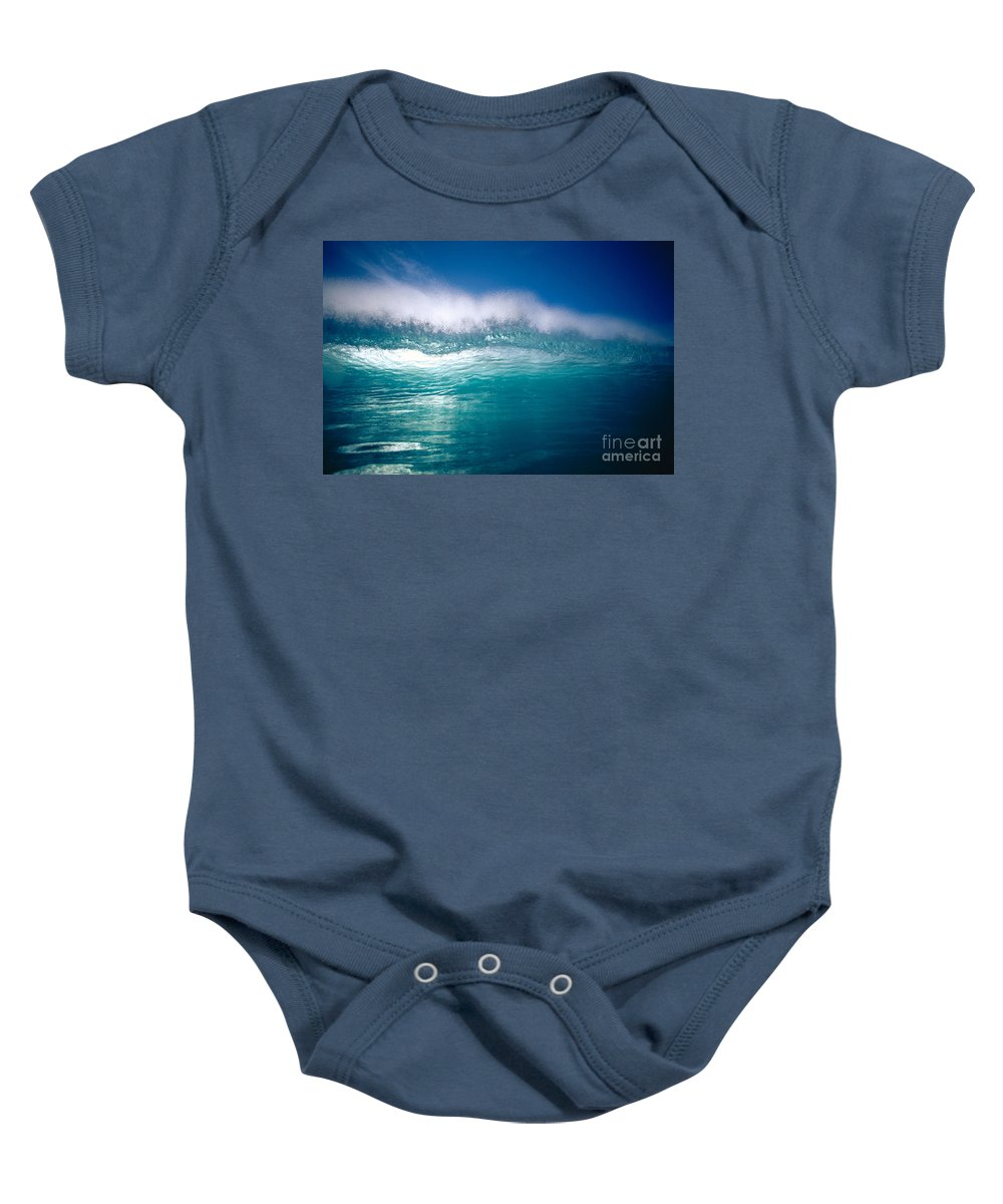 Backlit Baby Onesie featuring the photograph Green Wave by Vince Cavataio - Printscapes
