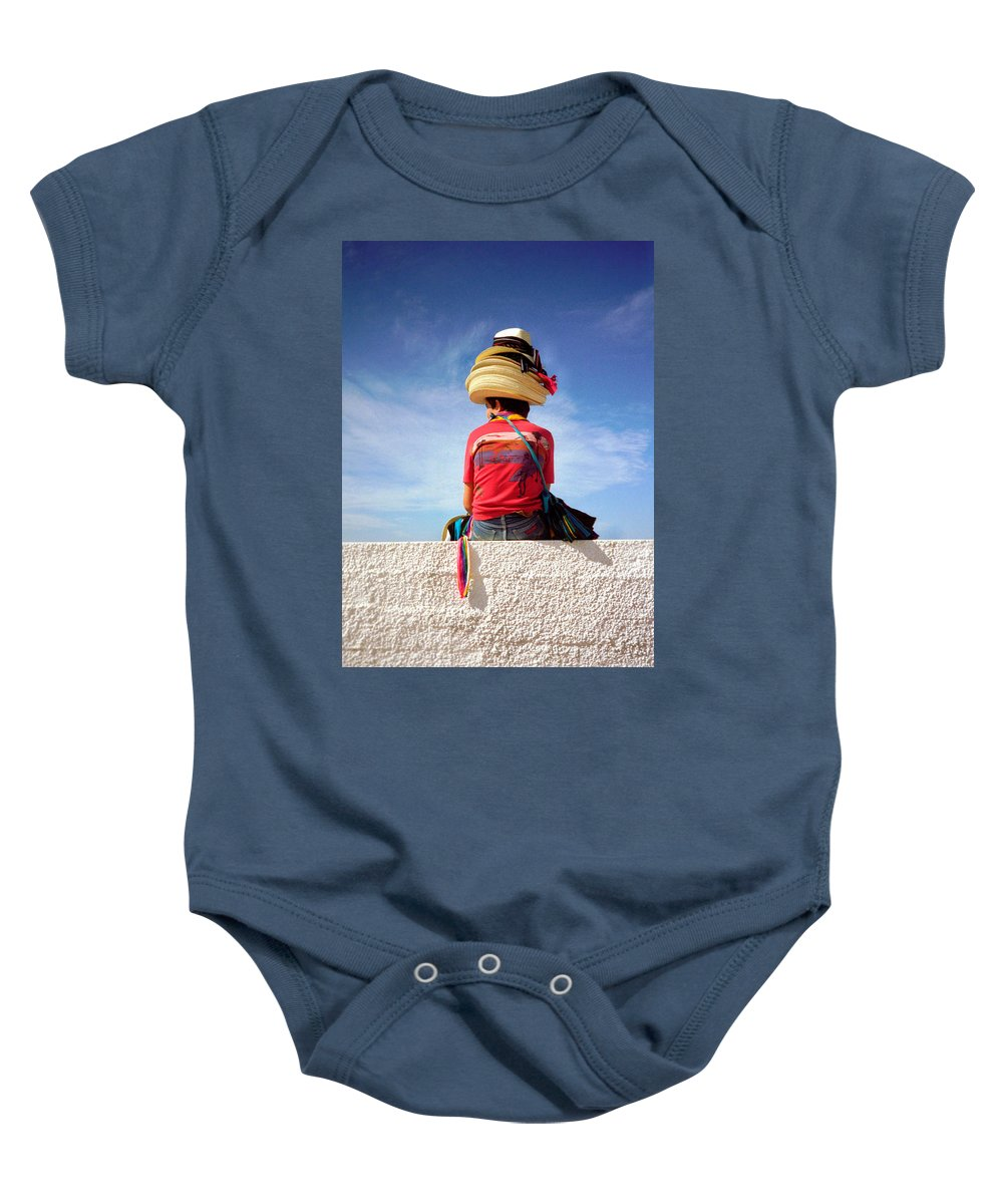 Art Baby Onesie featuring the photograph Hats by Frank DiMarco