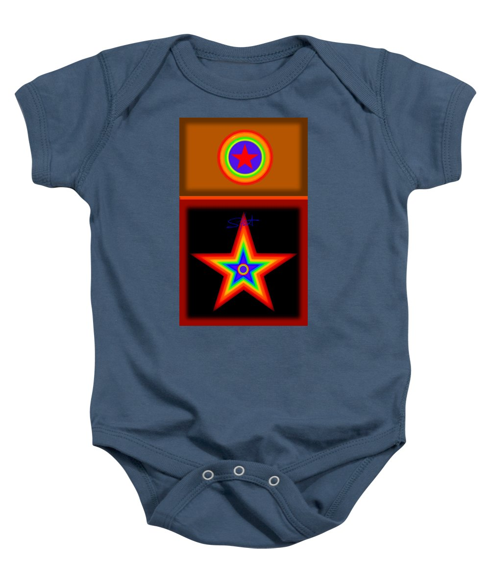 Classical Baby Onesie featuring the painting Hot Circus Stuff by Charles Stuart