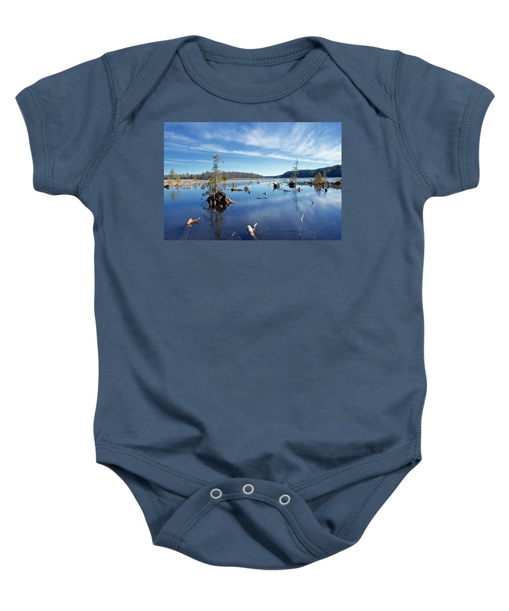 Rugged Baby Onesie featuring the photograph Iago Springs 9500 by Michael Peychich