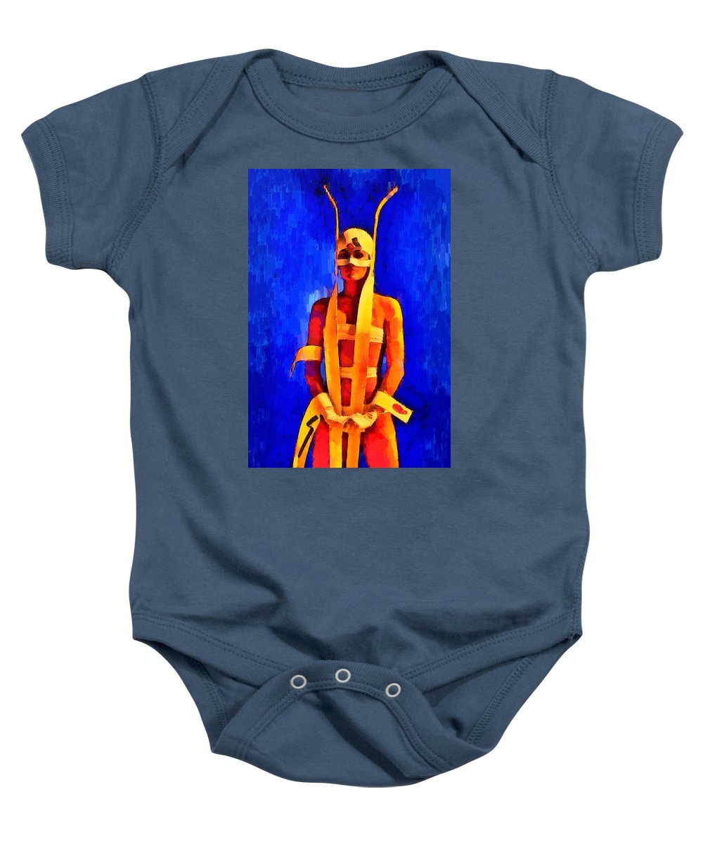 Fantastic Baby Onesie featuring the painting Is Fantastic 2 - Pa by Leonardo Digenio