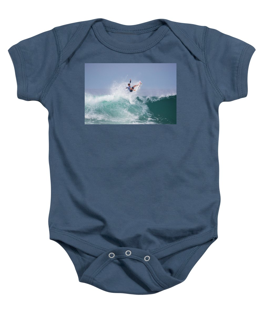 Surfing Baby Onesie featuring the photograph Jesse Mendes 4386 by Brian Knott Photography