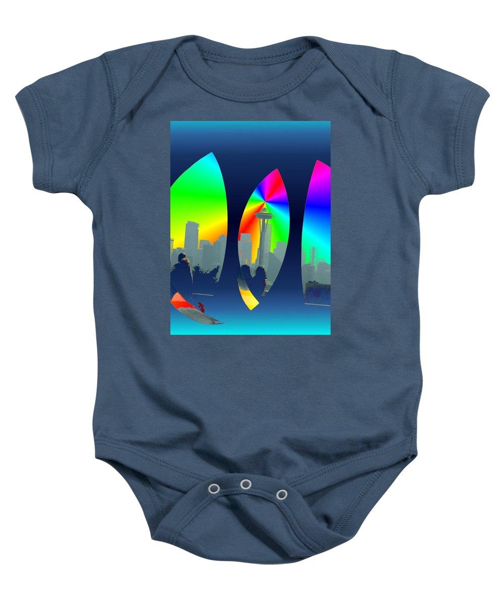 Seattle Baby Onesie featuring the digital art Kerry Needle 3 by Tim Allen