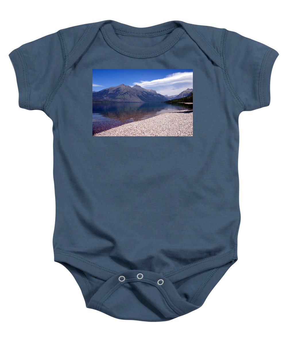 Glacier National Park Baby Onesie featuring the photograph Lake Mcdonald Reflection Glacier National Park 4 by Marty Koch