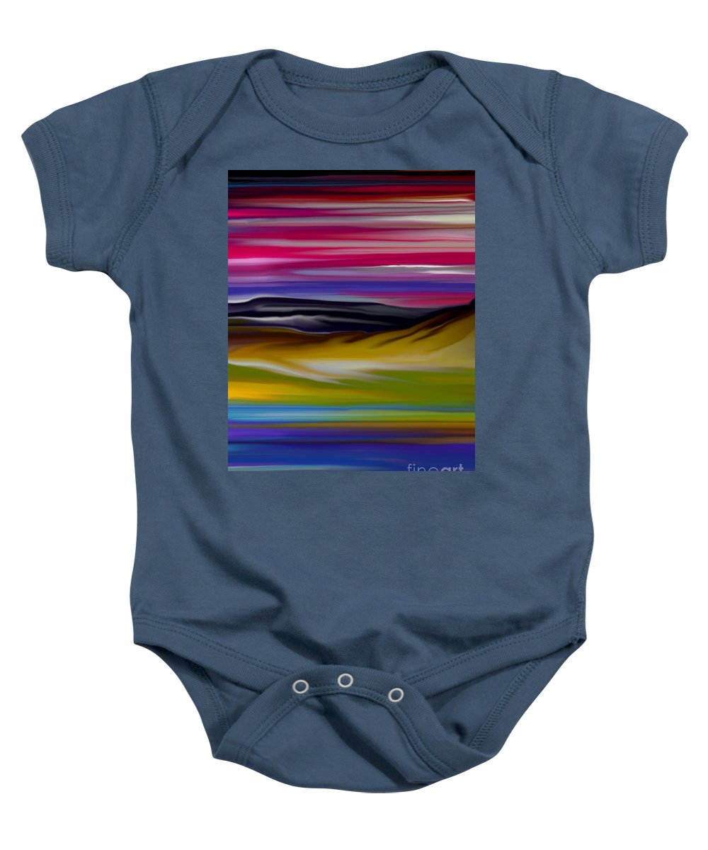 Digital Fantasy Painting Baby Onesie featuring the digital art Landscape 7-11-09 by David Lane