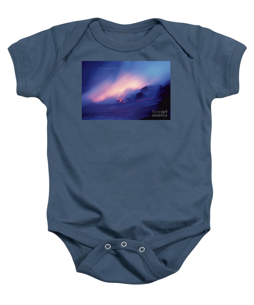 Active Baby Onesie featuring the photograph Lava Flows At Twilight by Bob Abraham - Printscapes