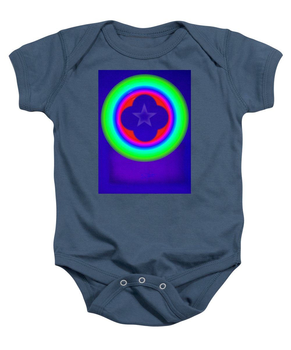 Abstract Baby Onesie featuring the painting Logos by Charles Stuart