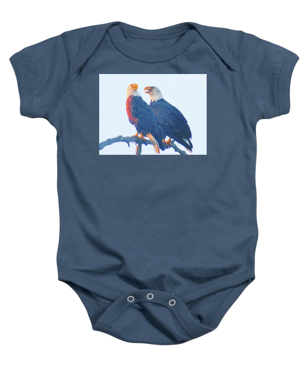 Baby Onesie featuring the photograph Lovers Quarrel by Martha Huard