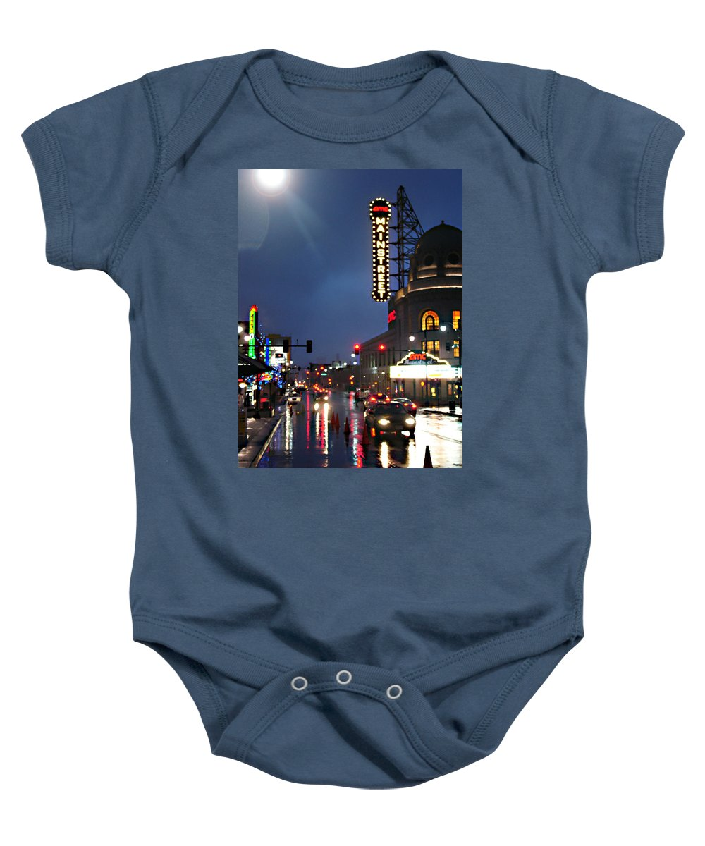 Landscape Baby Onesie featuring the photograph Main Street Kansas City by Steve Karol
