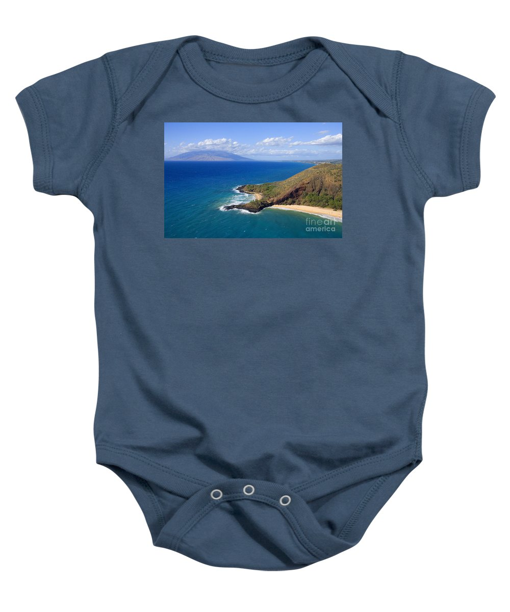 Above Baby Onesie featuring the photograph Makena, Maui by Ron Dahlquist - Printscapes