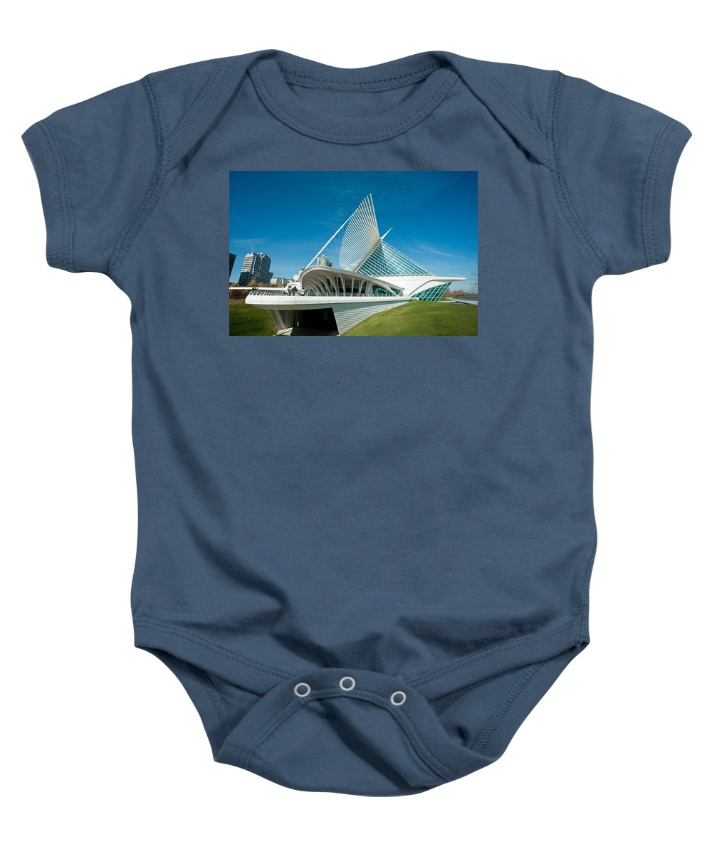 Milwaukee Baby Onesie featuring the photograph MAM by Steven Dunn