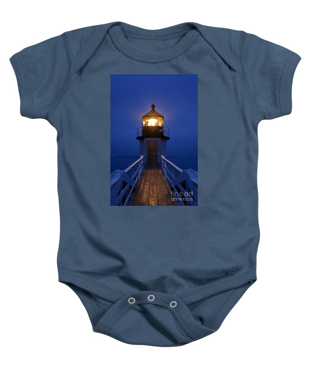 Maine Baby Onesie featuring the photograph Marshall Point Light Station by John Greim