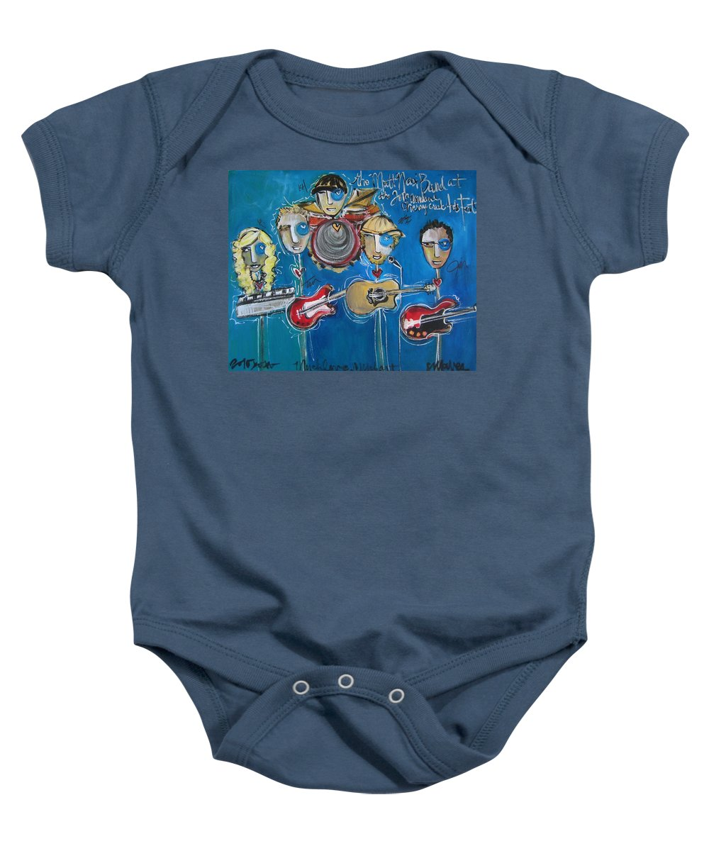 Bands Baby Onesie featuring the painting Matt Nasi Band At The Cherry Creek Arts Festival by Laurie Maves ART