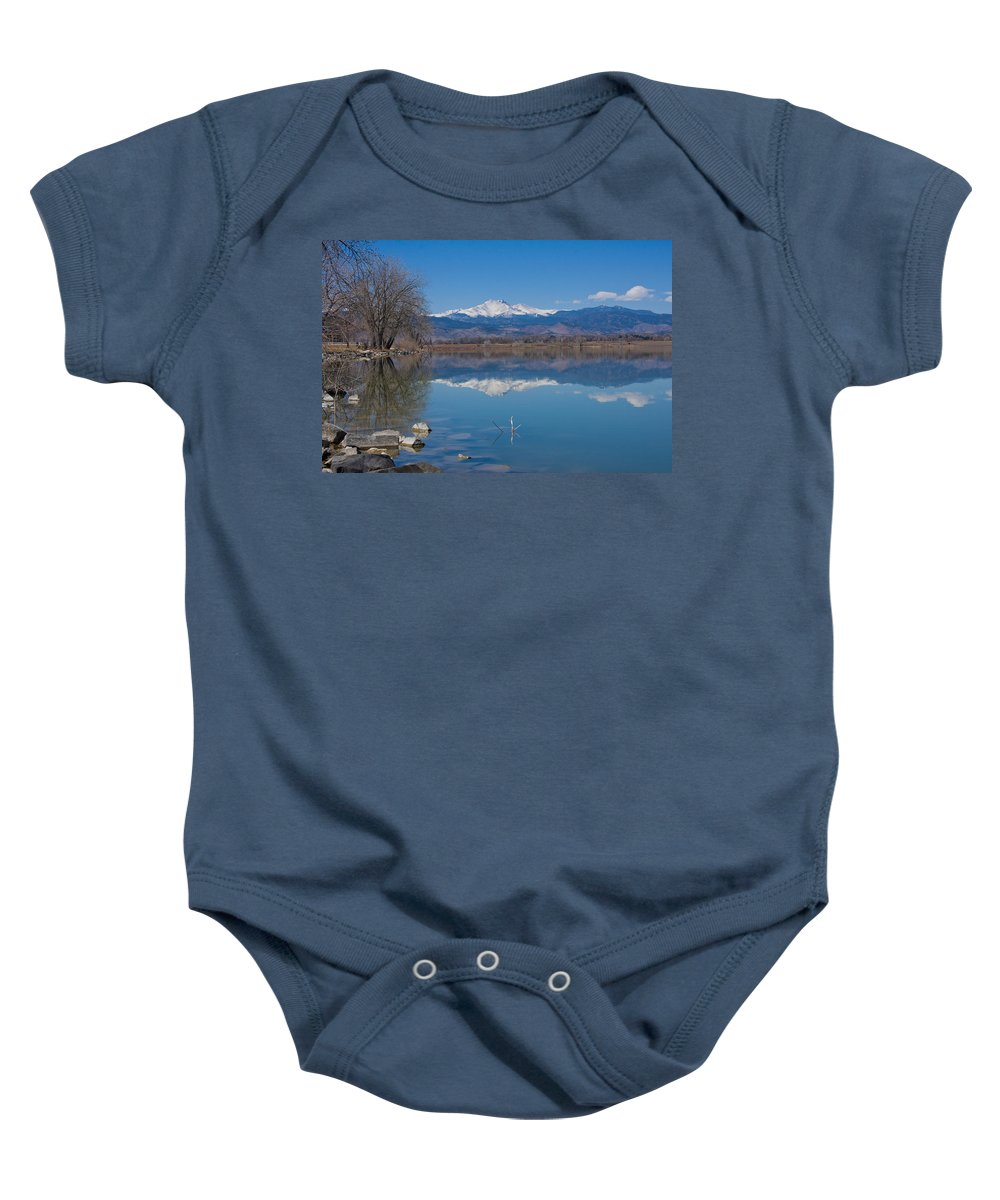 Lake Baby Onesie featuring the photograph Mcintosh Lake Reflections by James BO Insogna
