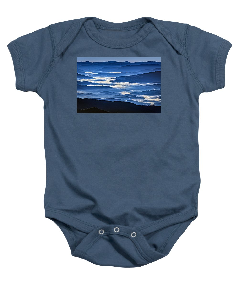 Great Smoky Mountains National Park Baby Onesie featuring the photograph Morning Mist In The Smokies by Rick Berk