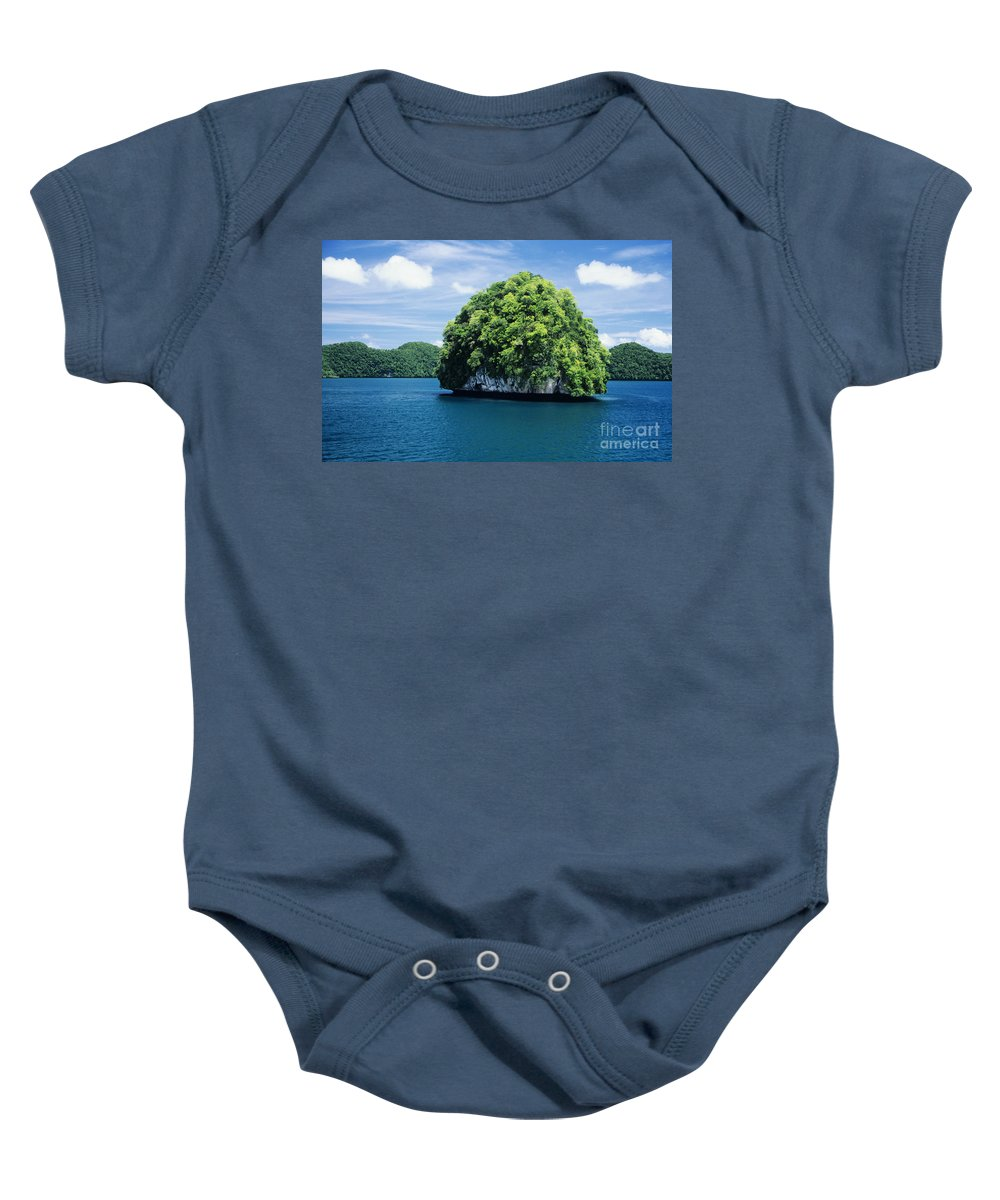 Beautiful Baby Onesie featuring the photograph Mushroom-shaped Island by Dave Fleetham - Printscapes