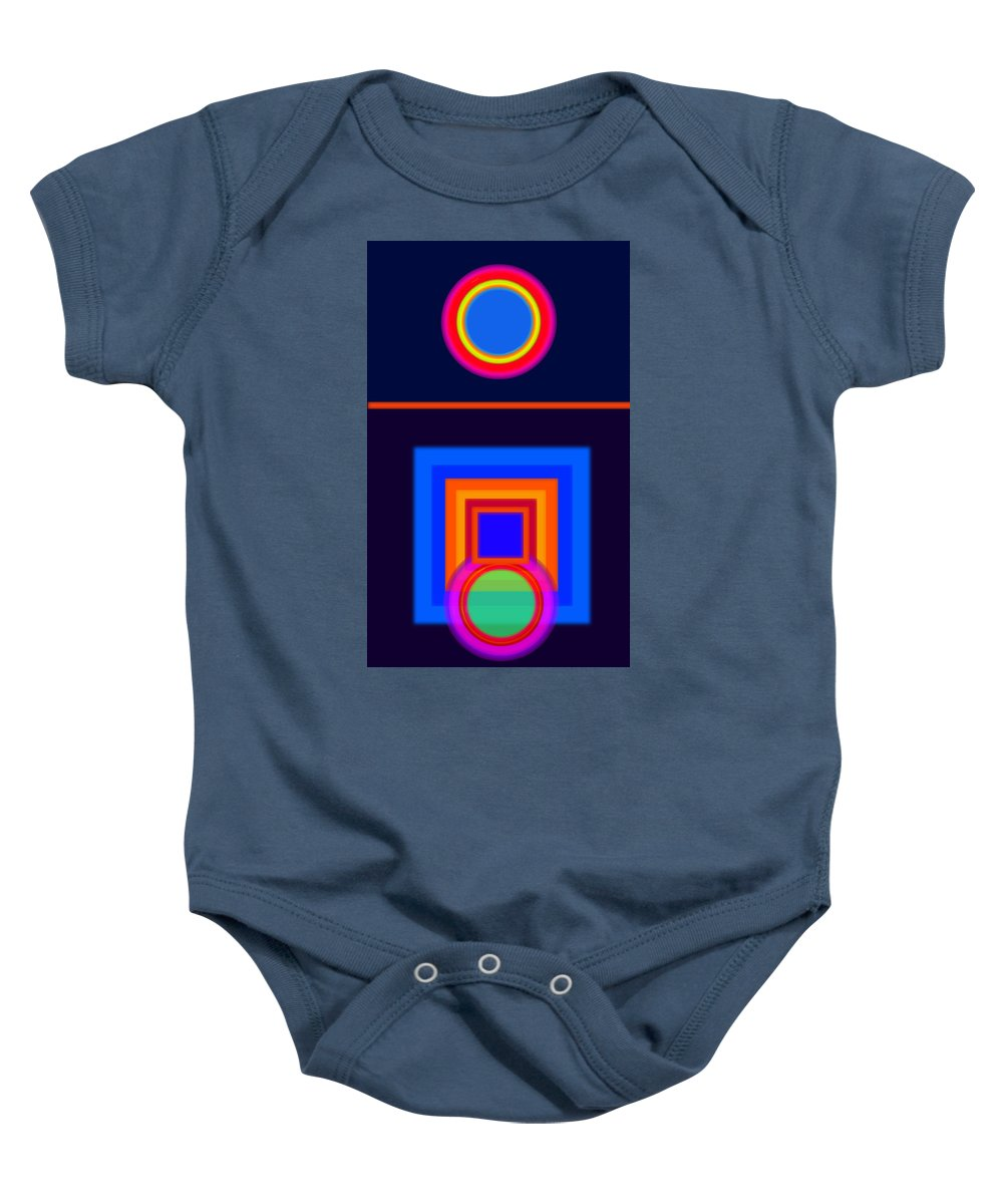 Classical Baby Onesie featuring the painting Neo-classical Cool by Charles Stuart