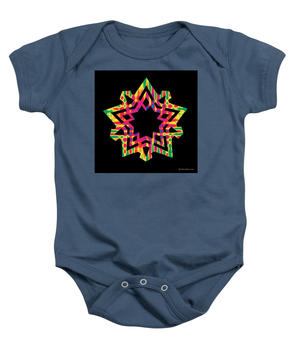 Pentacle Baby Onesie featuring the digital art New Star 5 by Eric Edelman