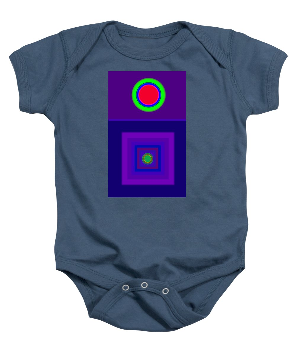 Classical Baby Onesie featuring the digital art New Violet by Charles Stuart