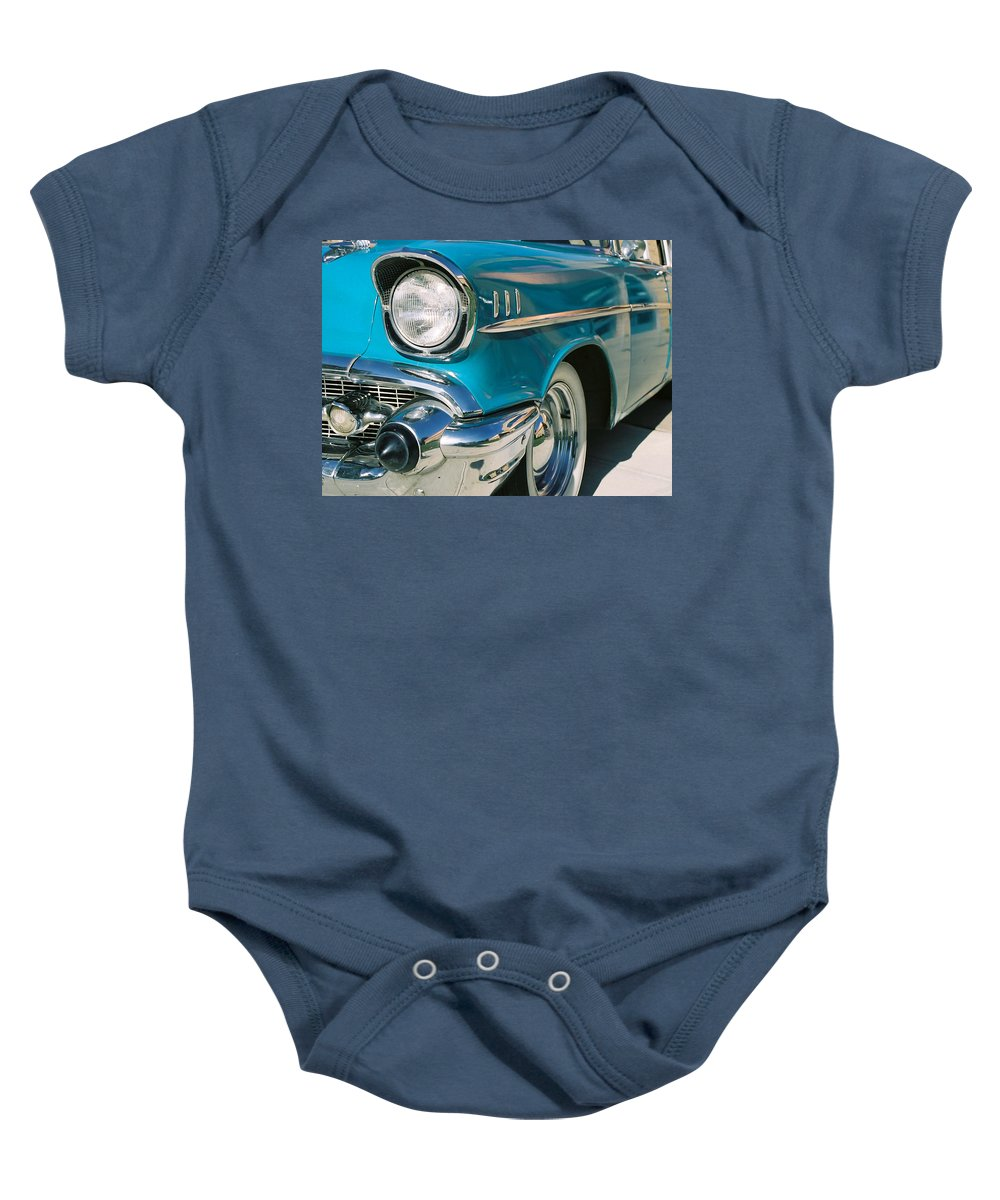 Chevy Baby Onesie featuring the photograph Old Chevy by Steve Karol