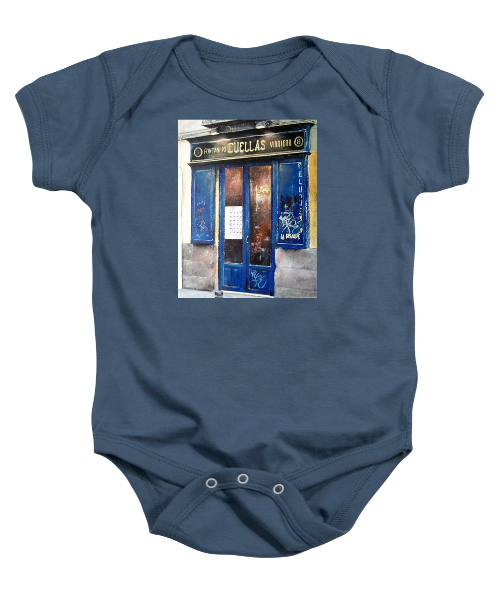 Old Baby Onesie featuring the painting Old Plumbing-madrid by Tomas Castano