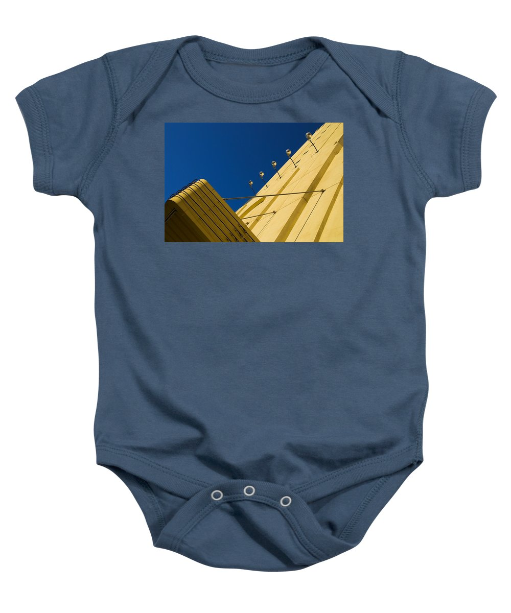 Electric Baby Onesie featuring the photograph Old School Vegas by Skip Hunt
