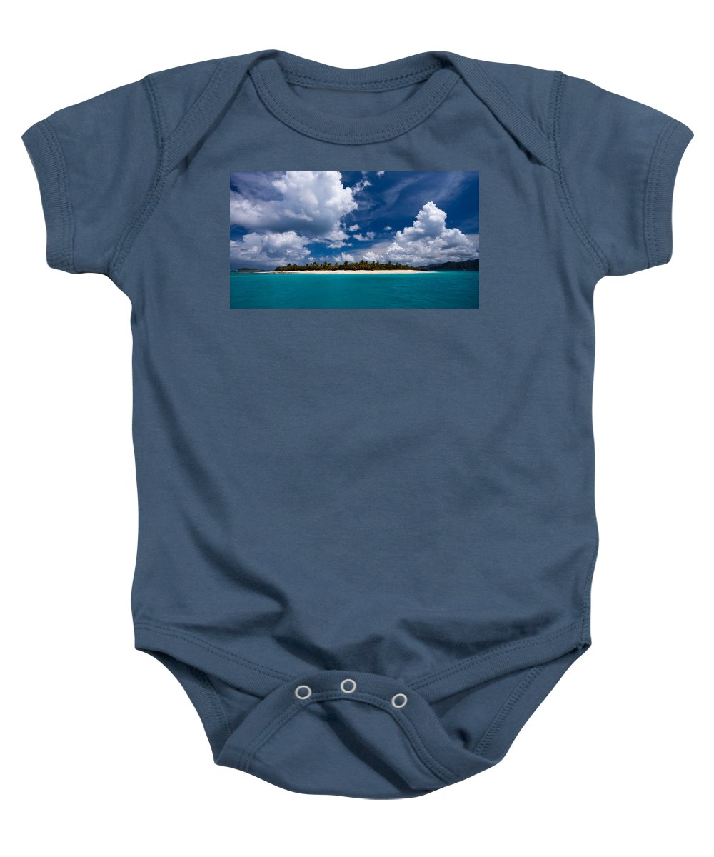 3scape Baby Onesie featuring the photograph Paradise Is Sandy Cay by Adam Romanowicz
