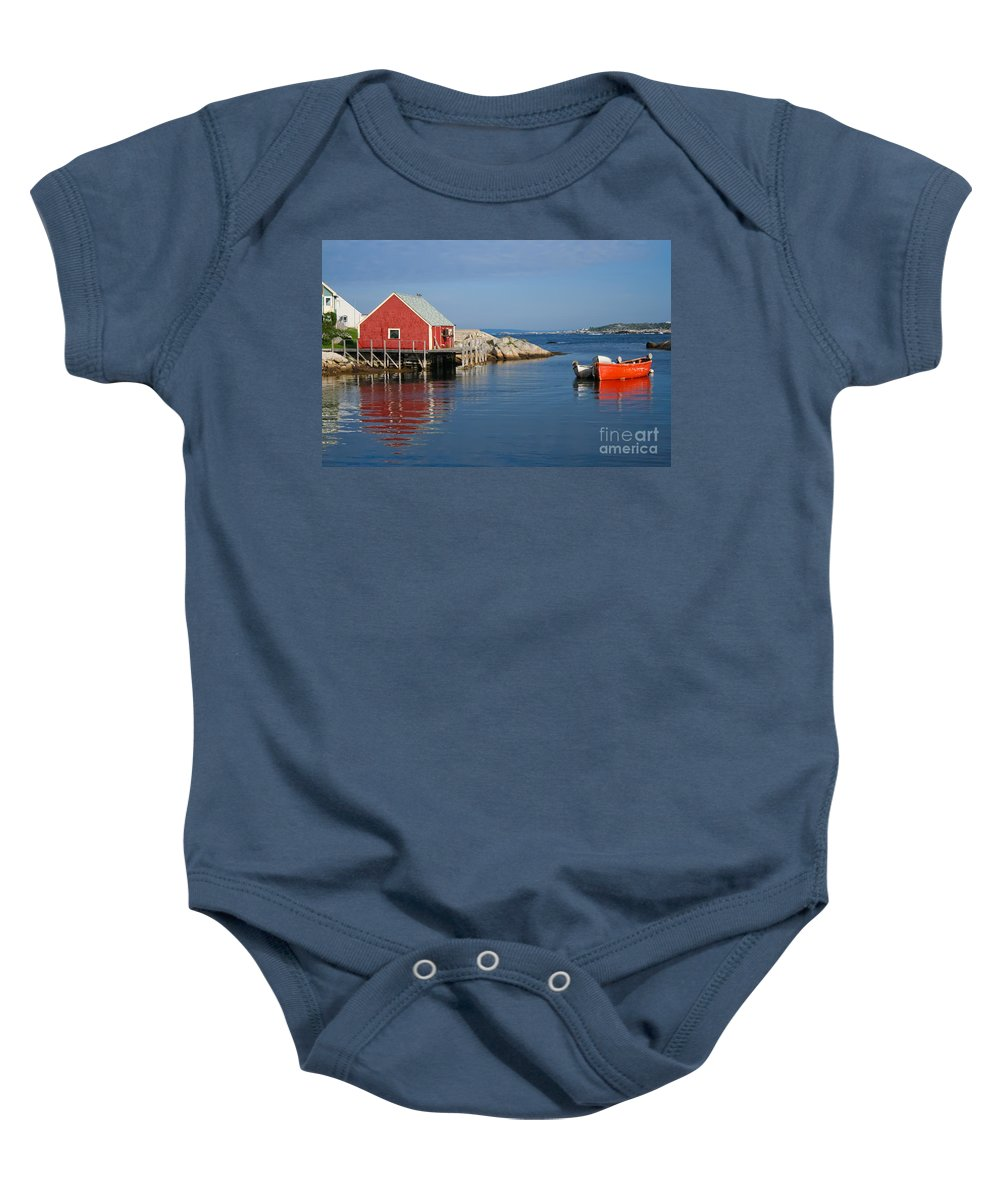 Peggy's Cove Baby Onesie featuring the photograph Peggys Cove by Thomas Marchessault