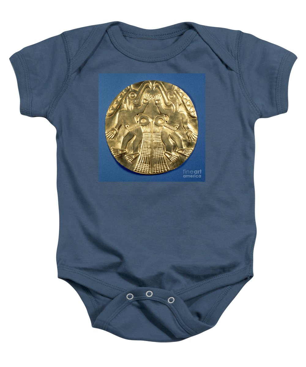 1000 Baby Onesie featuring the photograph Pre-columbian Gold, 1000 Ad by Granger