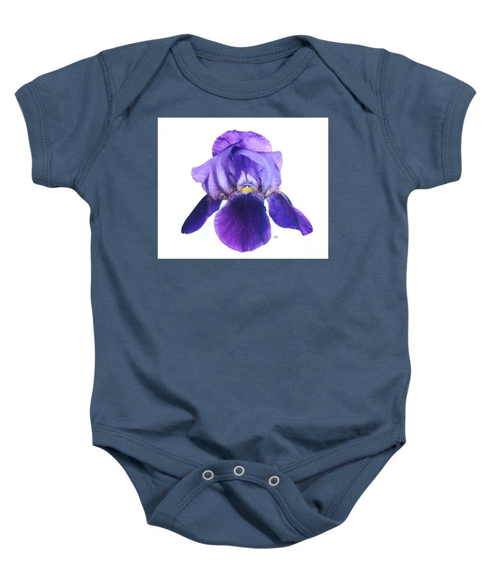 Photograoh Baby Onesie featuring the photograph Prettiest Purple Iris by Marsha Heiken