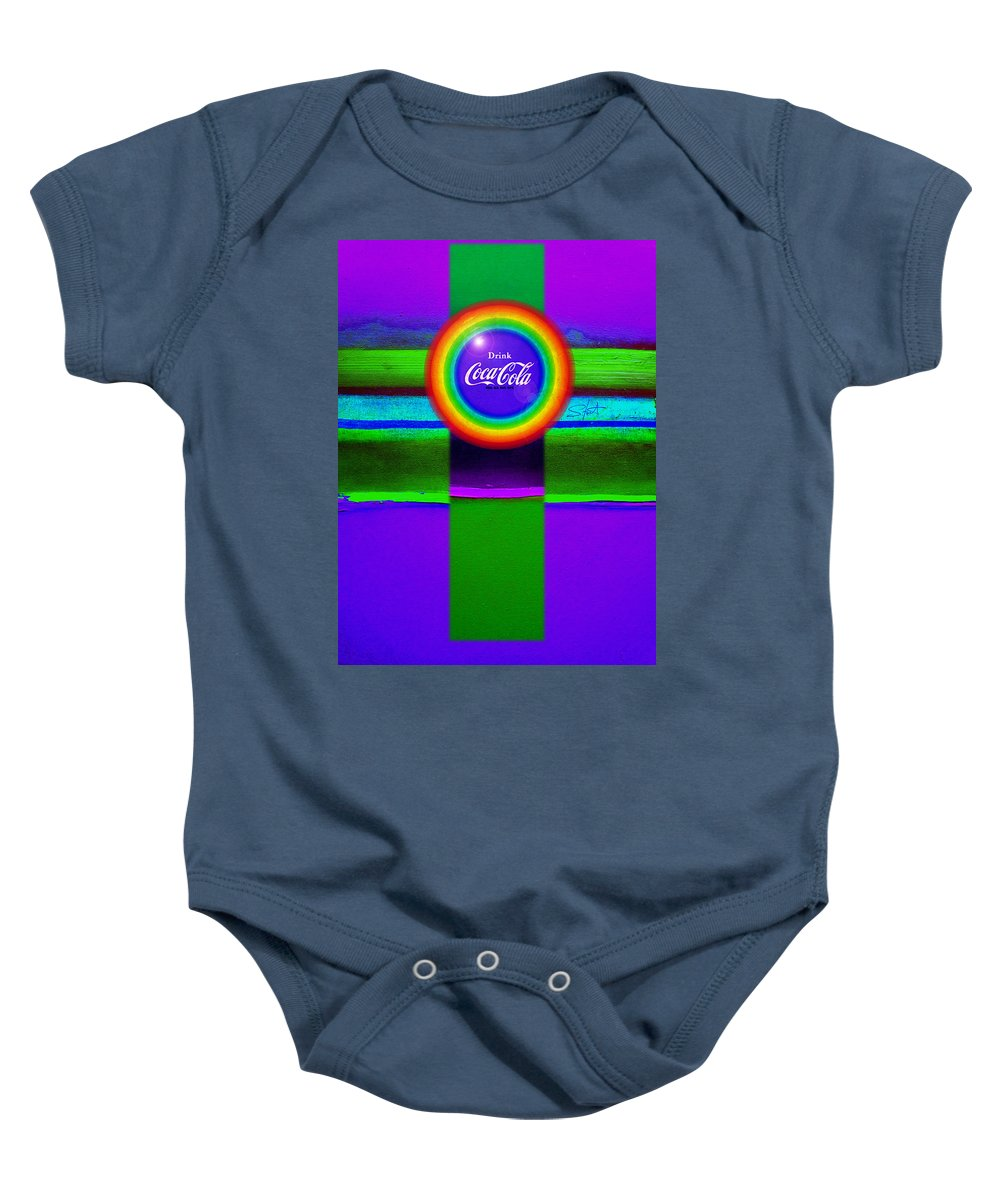 Violet Baby Onesie featuring the painting Rainbow by Charles Stuart