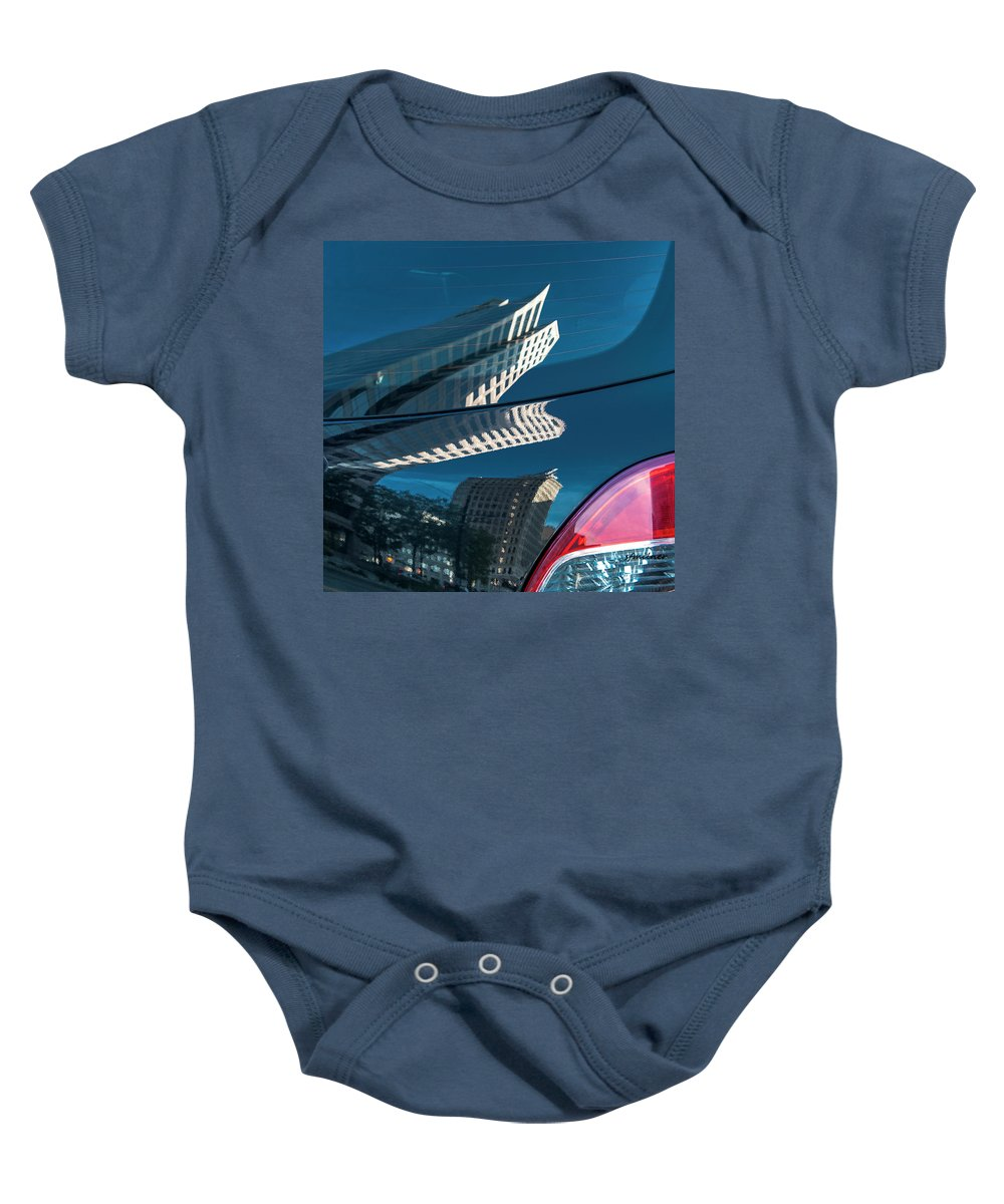Abstract Baby Onesie featuring the photograph Rear Reflections by Steven Milner
