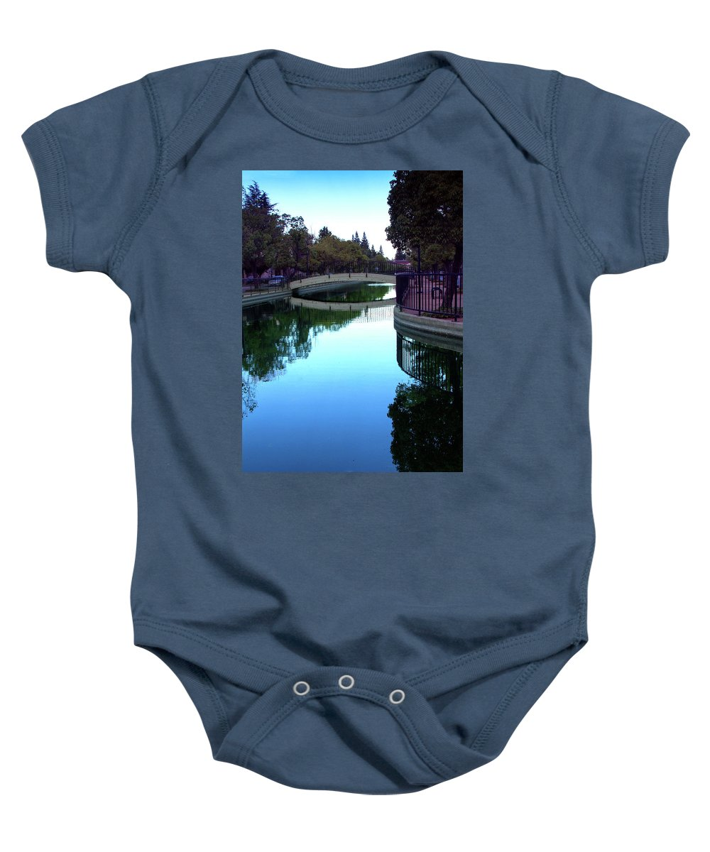 Reflection Baby Onesie featuring the digital art Reflection by Terry Davis