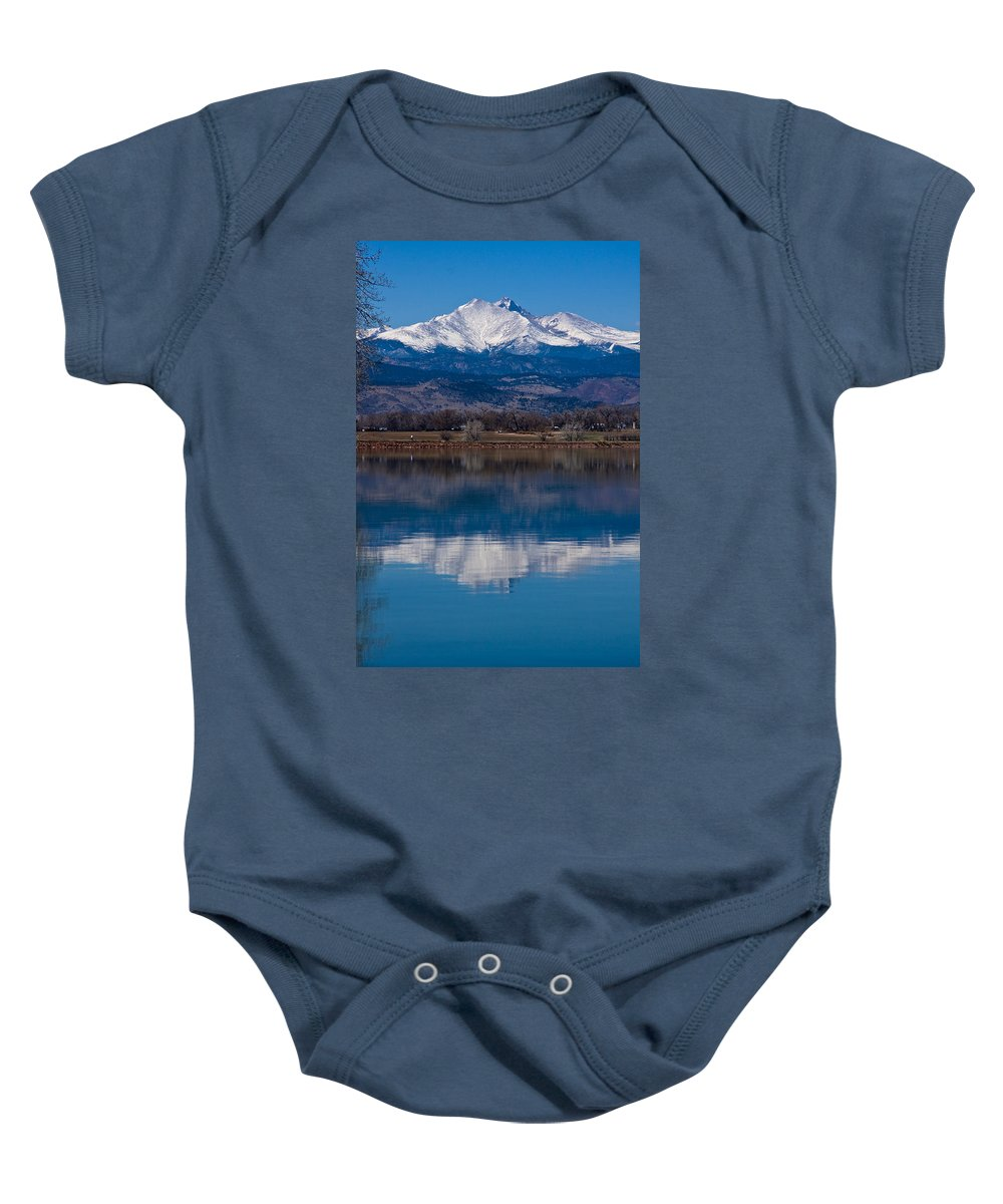 Twin Peaks Baby Onesie featuring the photograph Reflections Of The Twin Peaks by James BO Insogna