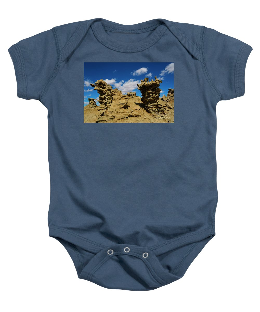 Siltstone Baby Onesie featuring the photograph Sand Demons by Mike Dawson