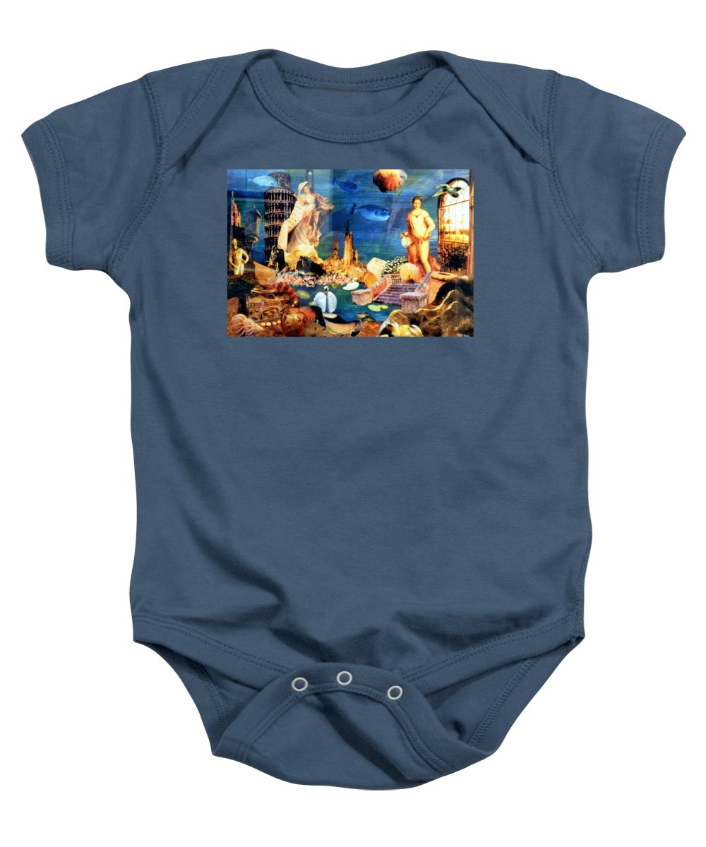 Fantasy Baby Onesie featuring the painting Sea Garden by Gail Kirtz