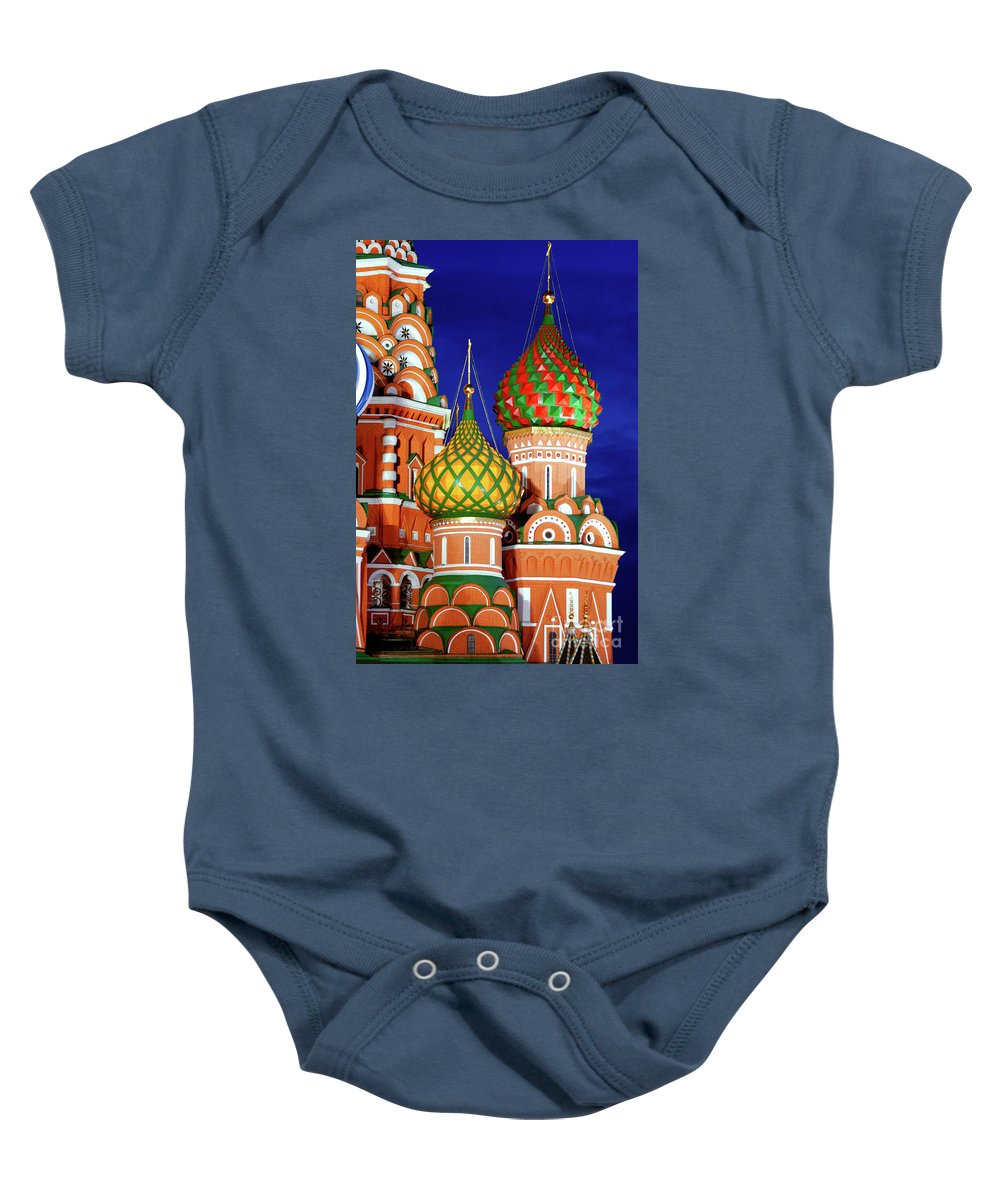 Saint Baby Onesie featuring the photograph St Basils Cathedral In Moscow Russia by Oleksiy Maksymenko
