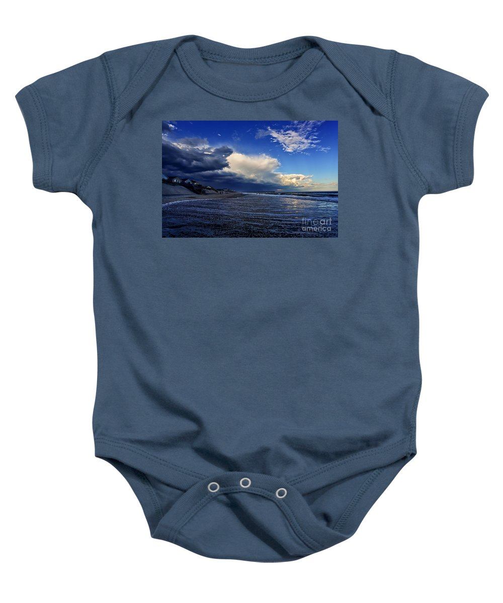 Sunset Baby Onesie featuring the photograph Storm Brewing by DJA Images
