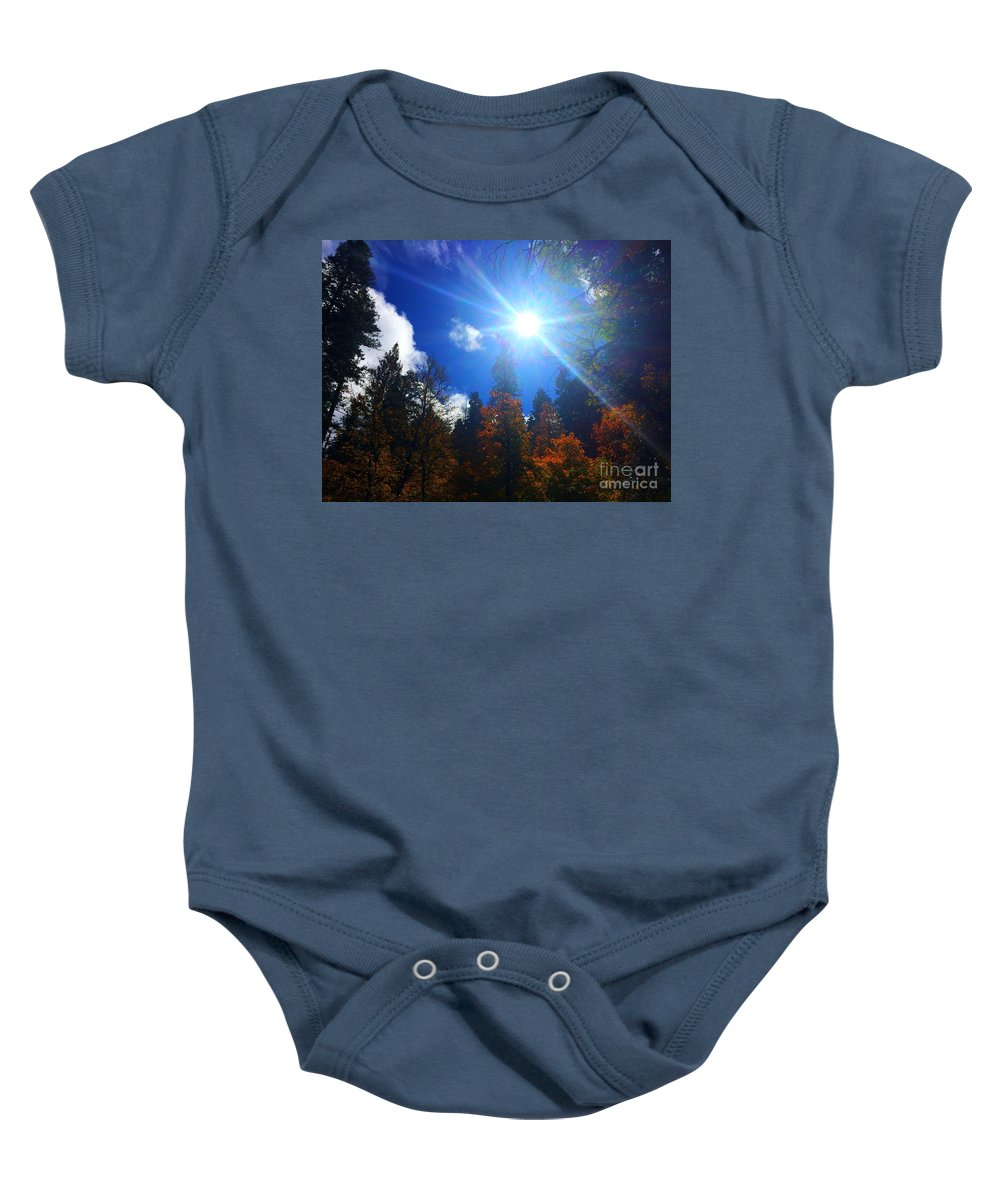 Sun Baby Onesie featuring the photograph Sun Up by Marie Webb