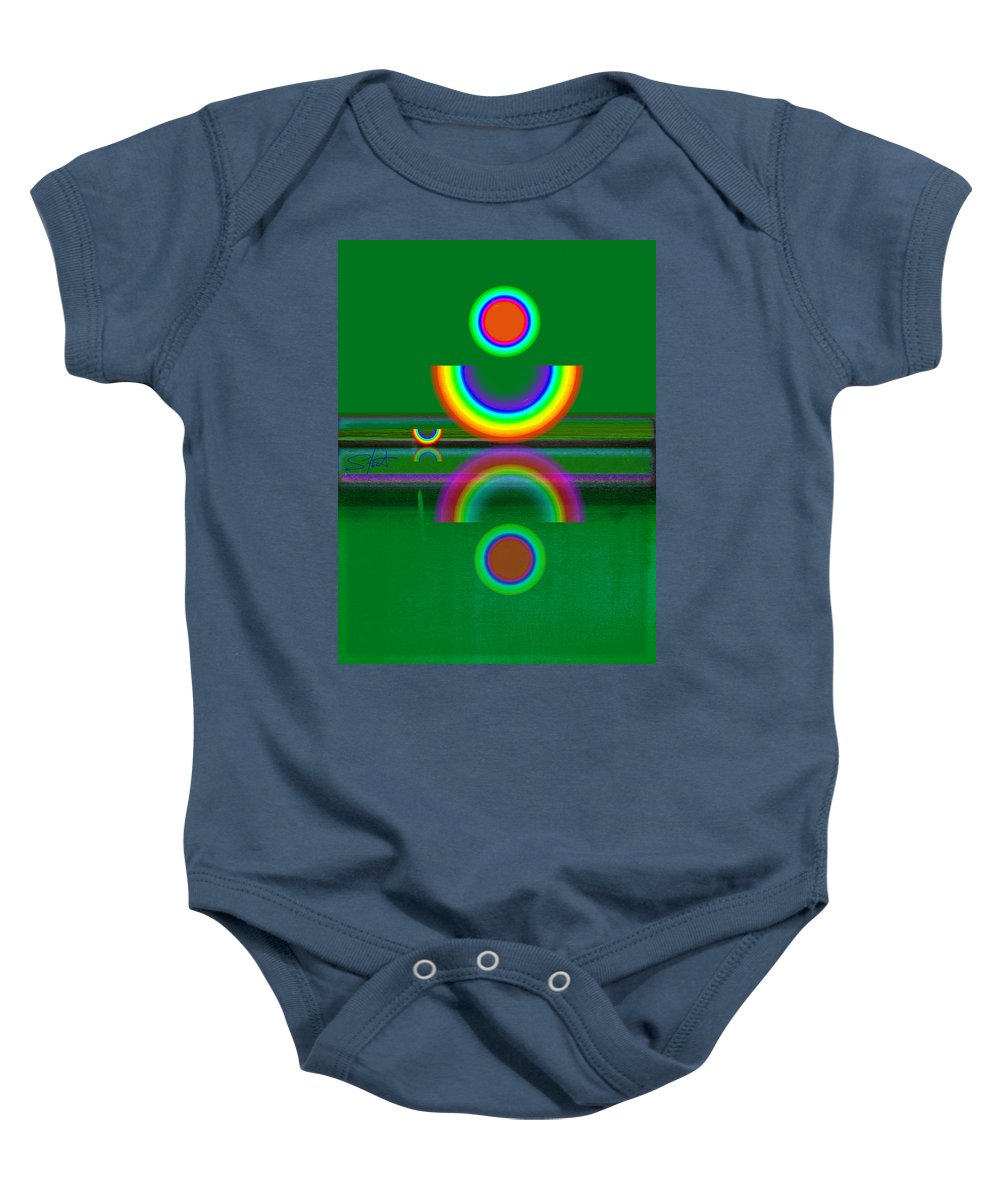 Reflections Baby Onesie featuring the painting Sundown by Charles Stuart
