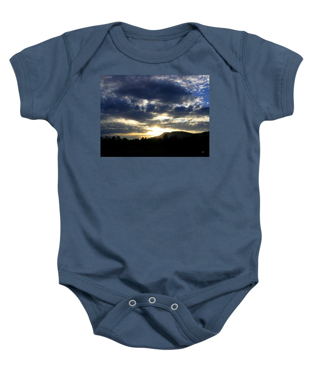 Sunset Baby Onesie featuring the photograph Sunset From Mcarthur Island by Will Borden