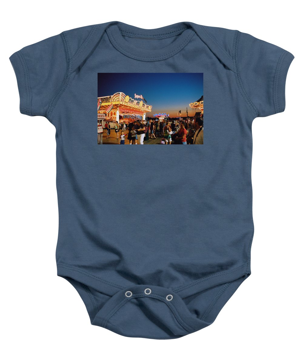 Board Walk Baby Onesie featuring the photograph Super Himalaya by Steve Karol