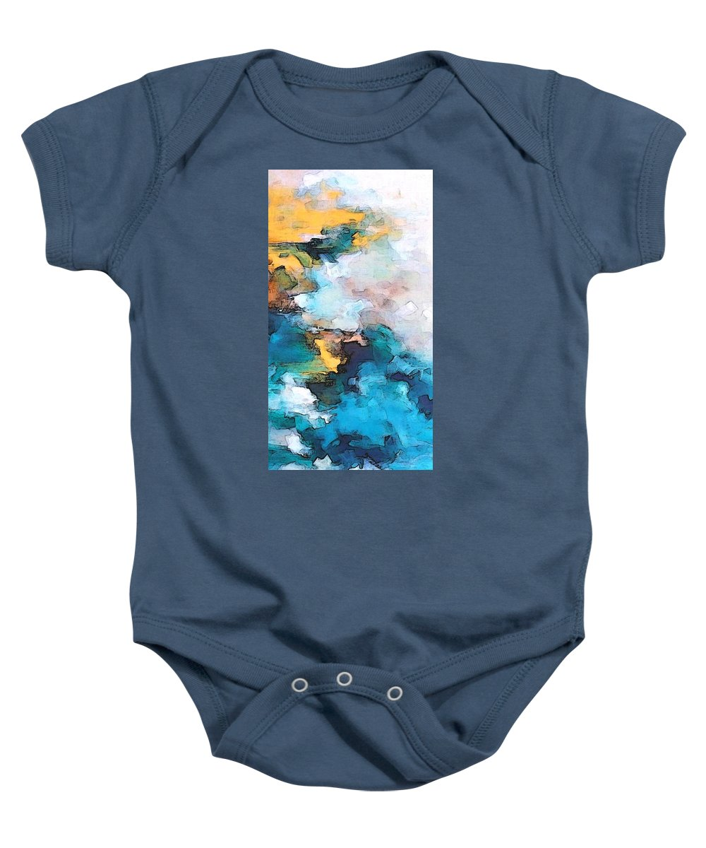Abstract Baby Onesie featuring the digital art Sweet Memory Shades by Linda Mears