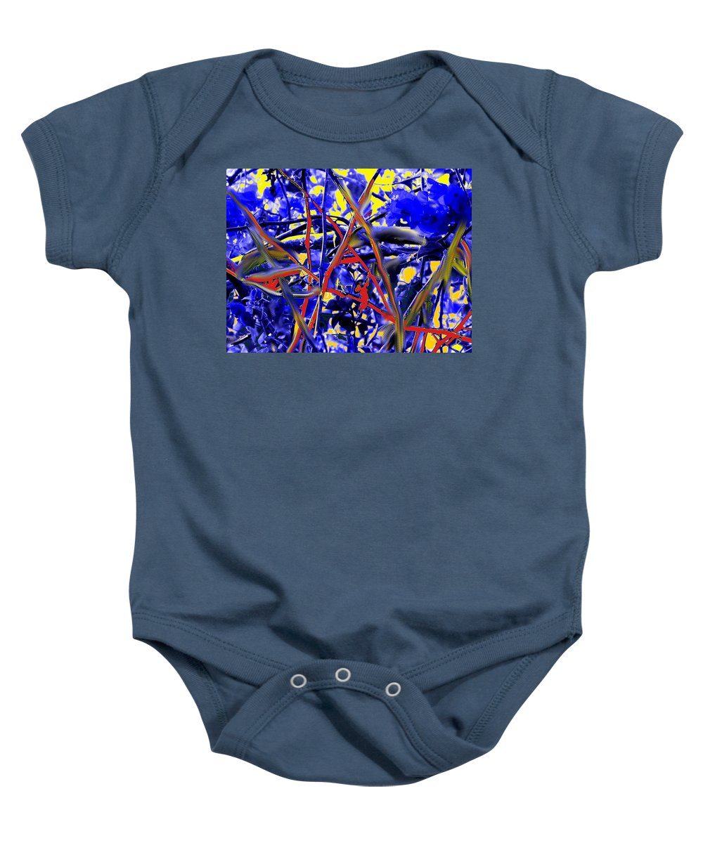 Abstract Baby Onesie featuring the photograph Tangled Web by Ian MacDonald