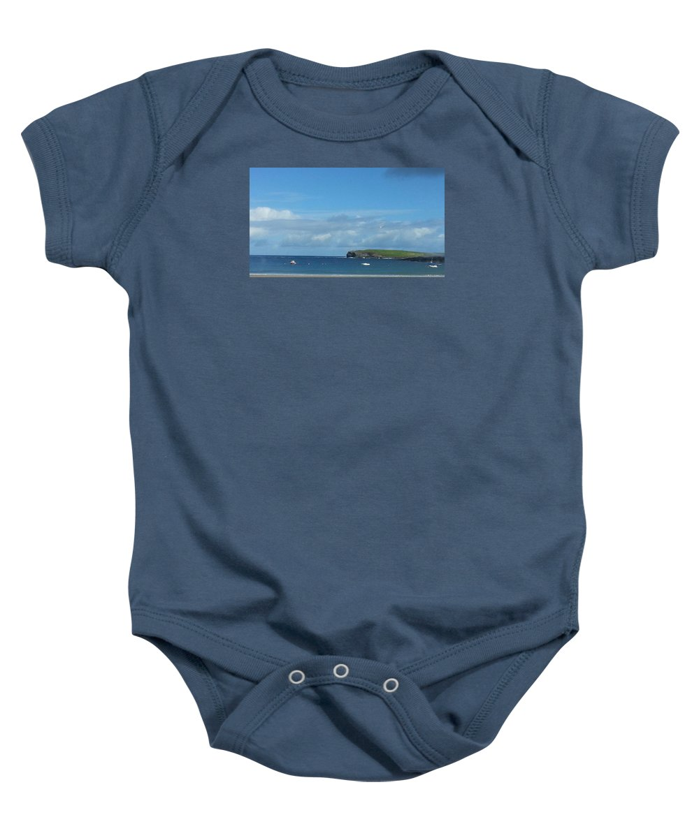 Atlantic Ocean Baby Onesie featuring the photograph The Bay Of Kilkee On A Summer's, West Of Ireland by Eoin Gleeson